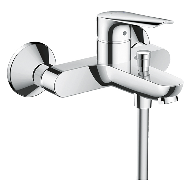 Смеситель для ванны с подключением душа hansgrohe Logis E 71403000 однорычажный