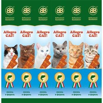 Колбаски B&B Allegro для кошек с лососем и форелью 60шт