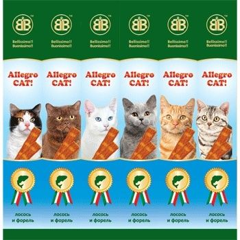 Колбаски B&B Allegro для кошек с лососем и форелью 6шт