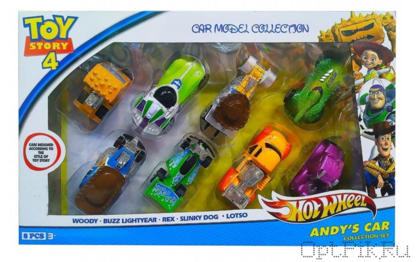 Набор из 8 машинок 7 см. История игрушек Hot Wheels (Хот Вилс)