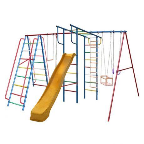 Спортивный комплекс Вертикаль-А1+П дачный МАКСИ с горкой 3 м