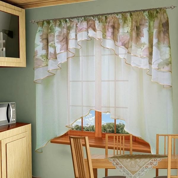 Комплект штор № 015-1, 170*295+(80*500), персик