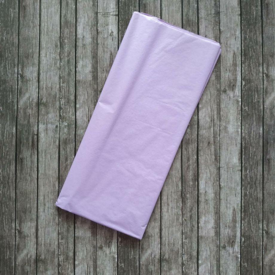 Бумага упаковочная тишью, сиреневый, 50х66 см, набор 10 листов