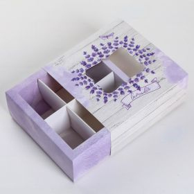 Коробка для сладостей Lavender, 13 × 13 × 5 см