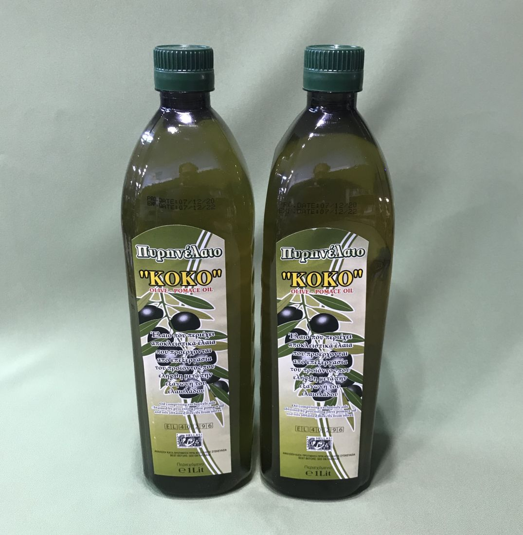 Оливковое масло KOKO 1 л помас, для жарки