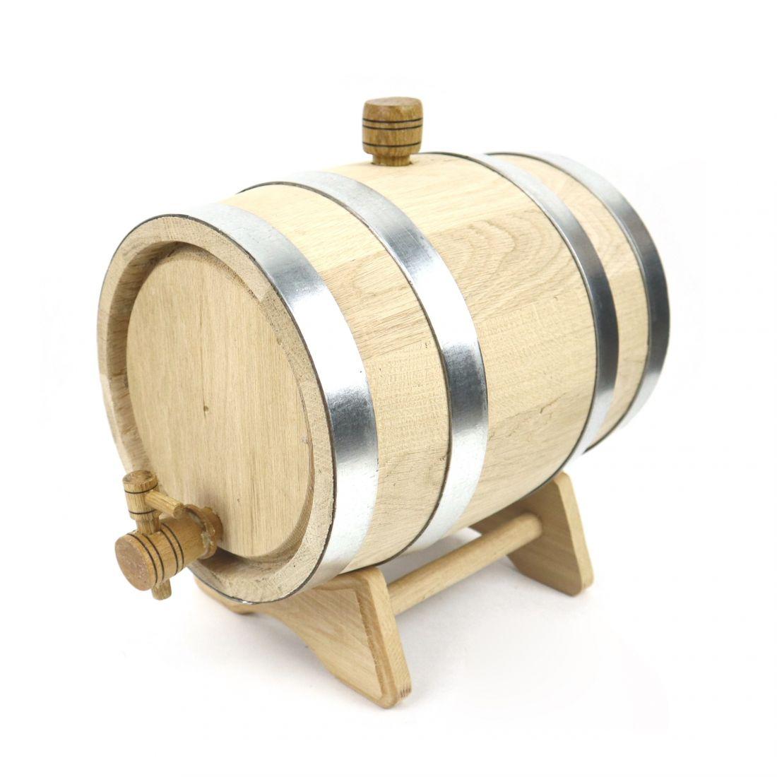 Бочка дубовая Стандарт (черешчатый дуб), 5 литров