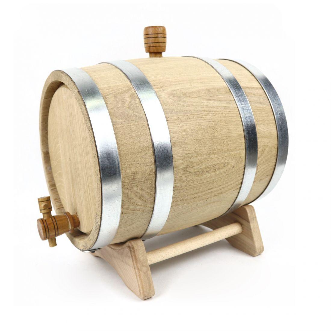 Бочка дубовая Стандарт (черешчатый дуб), 10 литров