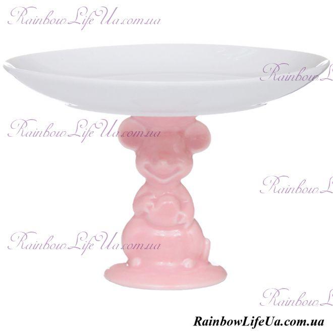 """Блюдо 16 см """"Розовая мышка"""""""