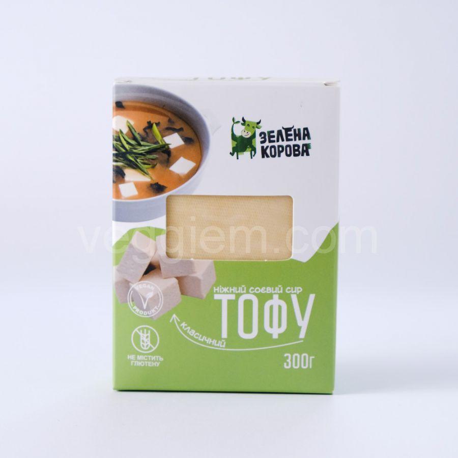 "Тофу классический ТМ ""Зеленая корова"", 300грамм"
