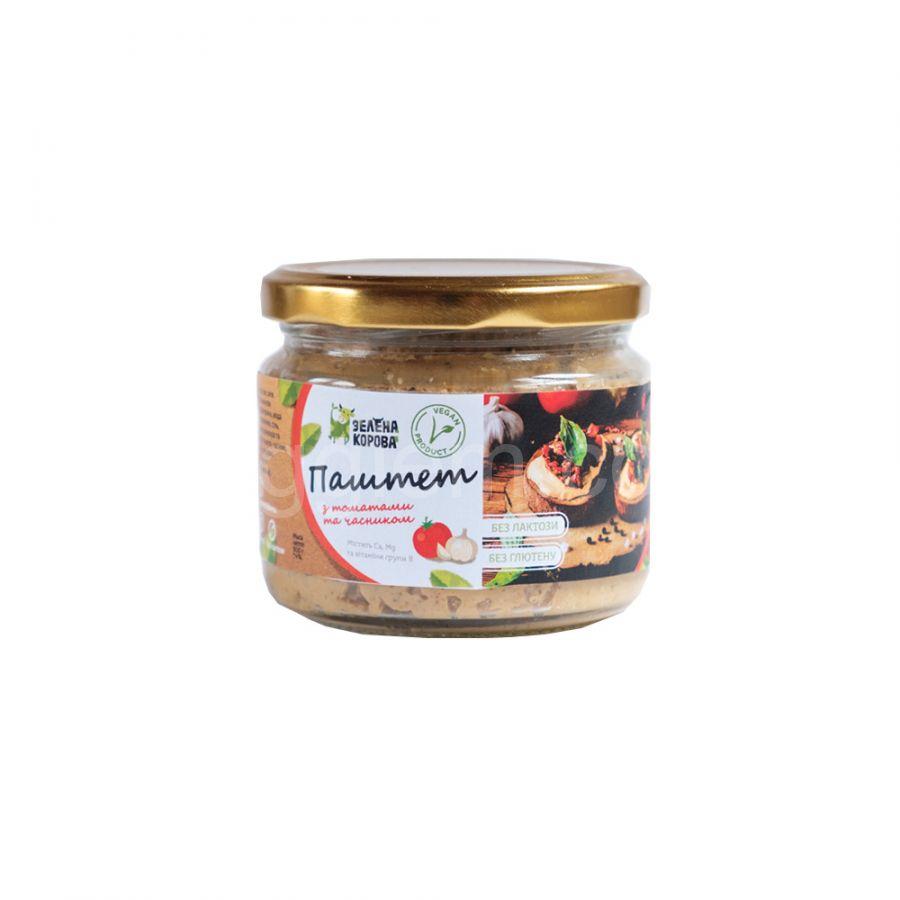 "Паштет с томатом и чесноком ТМ ""Зеленая корова"", 300грамм"