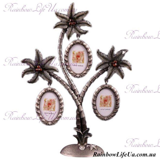 """Фоторамка - дерево на 3 фото Пальма """"Lefard"""""""