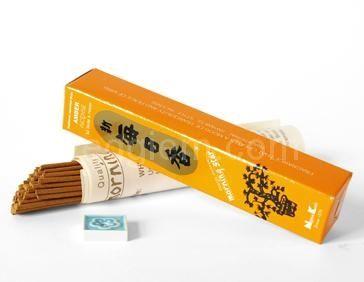 Благовония Амбра Morning Star Nippon Kodo с подставкой ,50 шт
