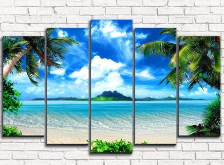 Модульная картина  Остров мечты
