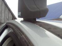 Багажник на крышу Peugeot 308, 2007-13, hatchback, Атлант, стальные прямоугольные дуги (в пластике)