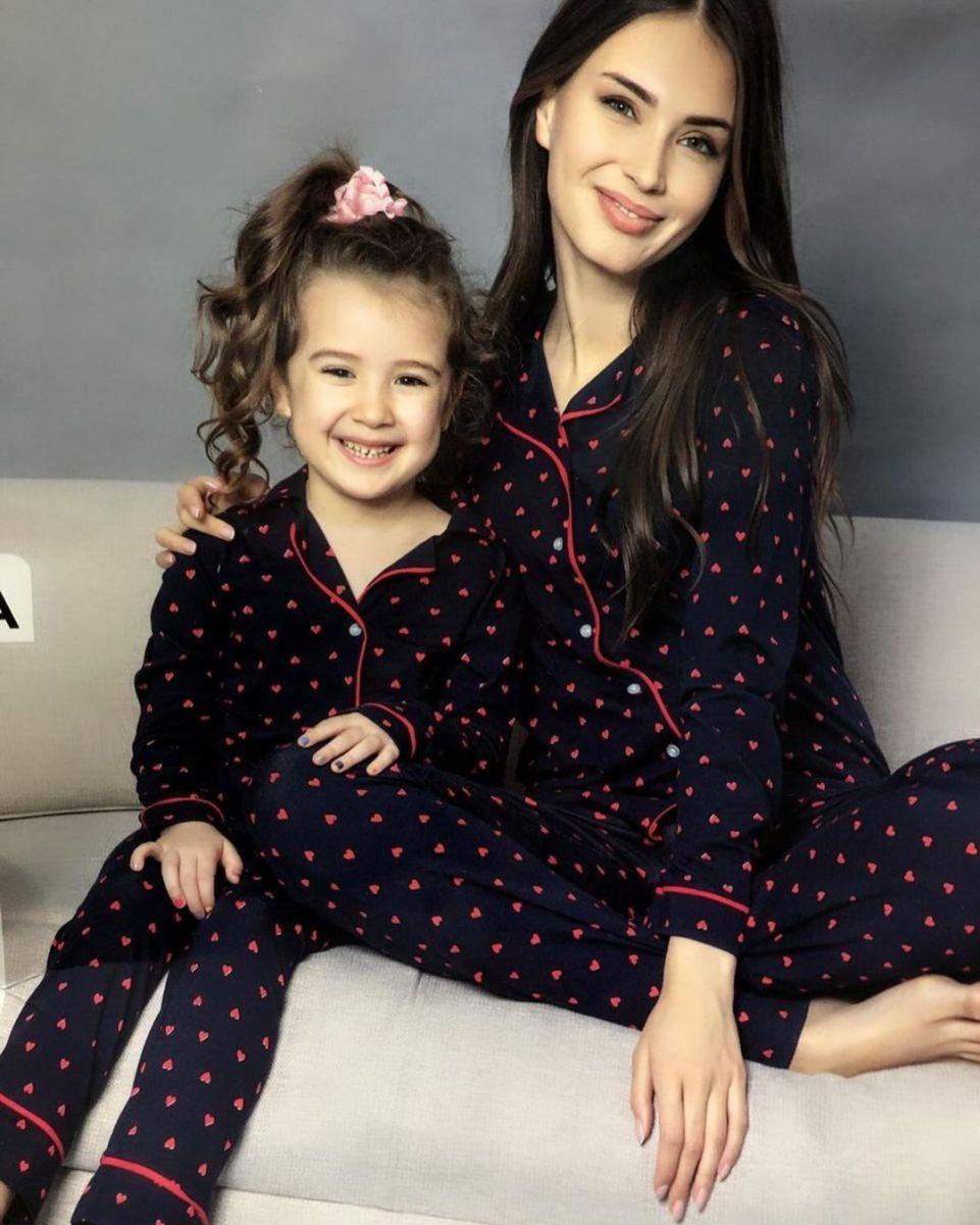 пижамы на маму и дочку