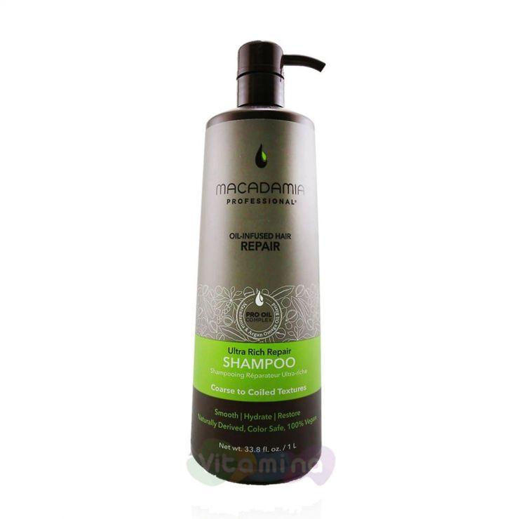 Macadamia Шампунь восстанавливающий для жестких волос ULTRA RICH REPAIR SHAMPOO, 1000 мл.