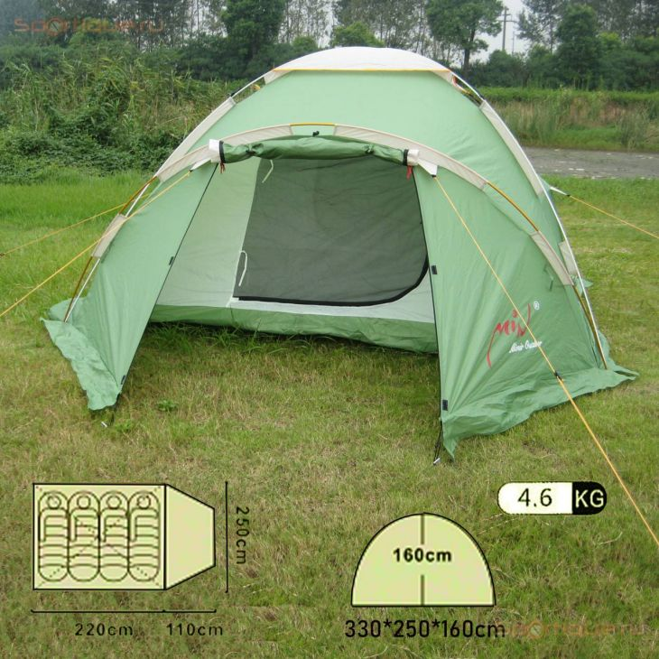 Палатка 4-местная Mimir Mir Camping X-ART1837-4
