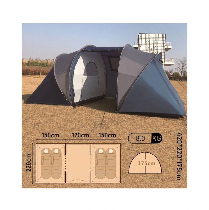 Палатка 4-местная Mimir Mir Camping ART1003