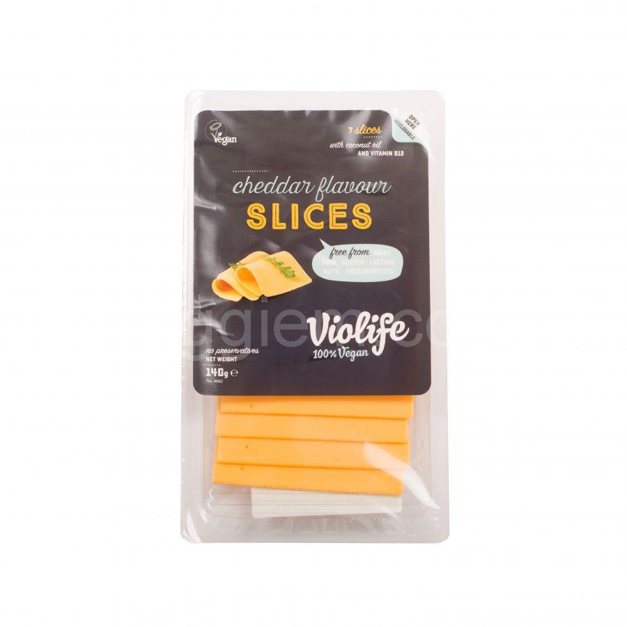 Сыр чеддер слайсами Violife, 140 грамм