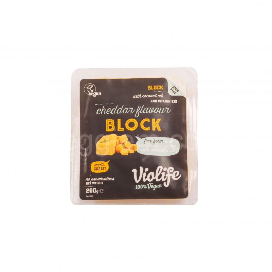 Сыр чеддер блок Violife, 200 грамм