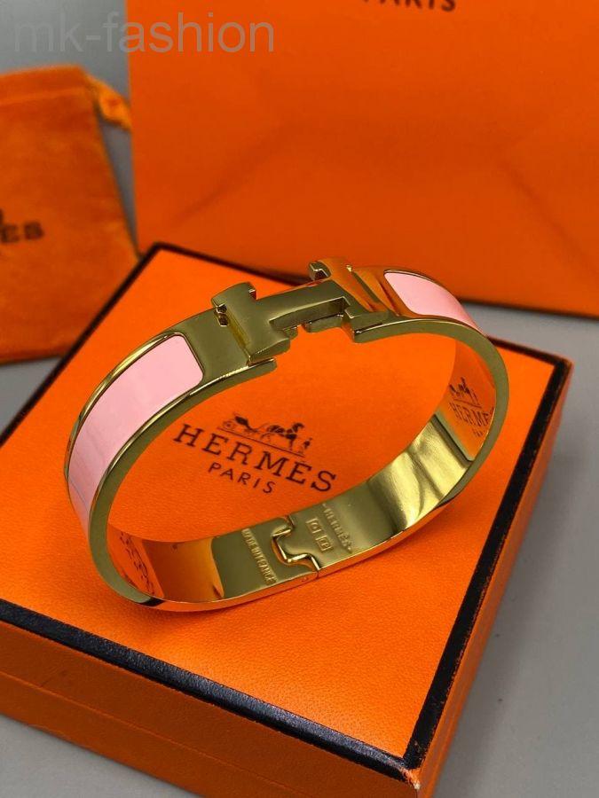 Браслет Hermes розовый