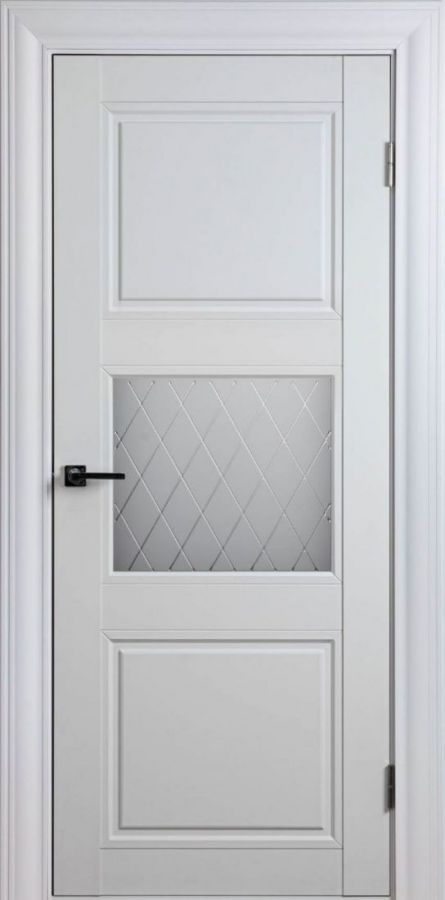 Дверной блок Scandinavia 2SF Белый Шёлк