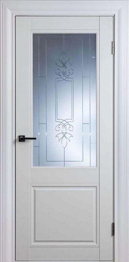 Дверное полотно Scandinavia-1SF Белый Шёлк
