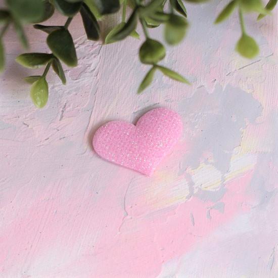 Кукольный аксессуар - Патч сердечко розовое, 1шт