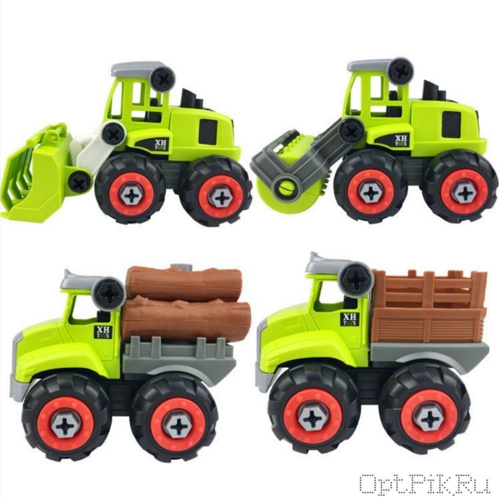 Лесозаготовка машинки 4  шт. разборные с отвёрткой