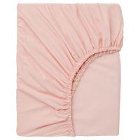 DVALA ДВАЛА, Простыня натяжная, светло-розовый, 140x200 см - 003.576.60