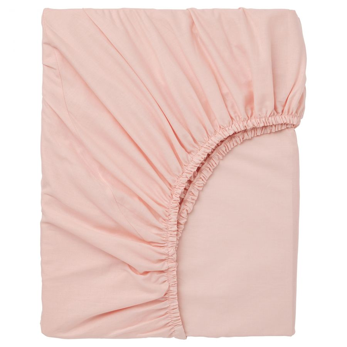 DVALA ДВАЛА, Простыня натяжная, светло-розовый, 90x200 см - 903.576.70