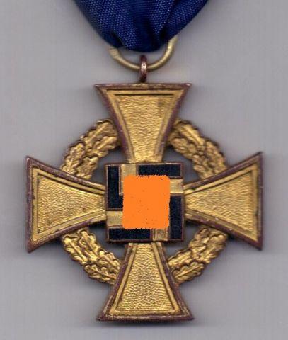 Крест 1938 медаль за 40 лет службы XF
