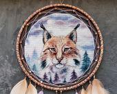 """Eurasian Lynx"". Digital cross stitch pattern."