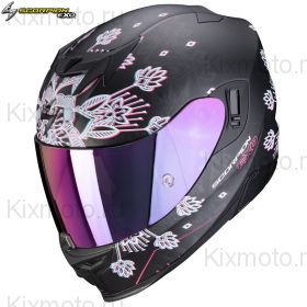 Шлем Scorpion EXO-520 Air Tina, Черный матовый с серебряным