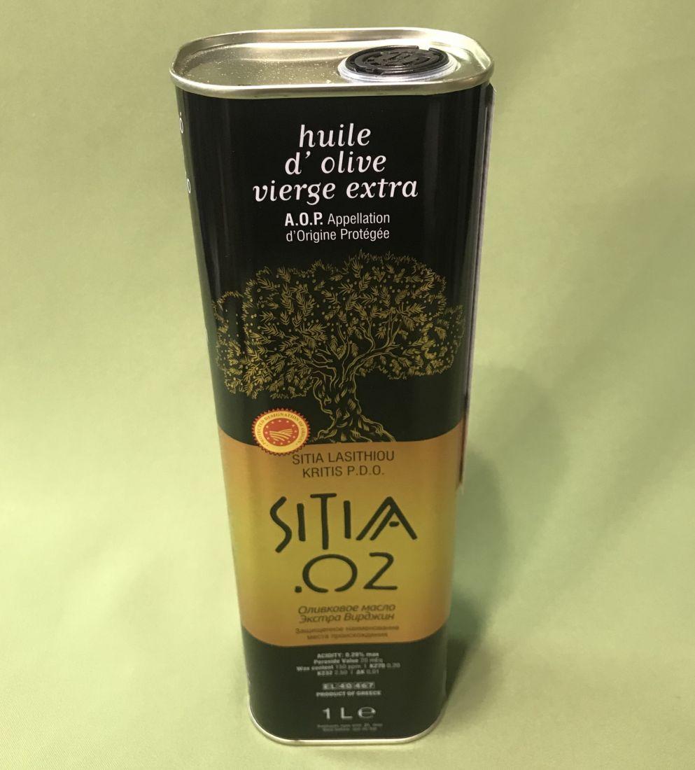 Оливковое масло SITIA - 1 л 0.2 экстра вирджин PDO