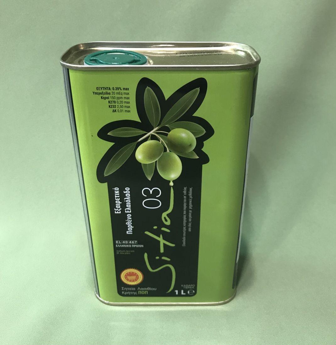 Оливковое масло SITIA - 1 л 0.3 экстра вирджин PDO