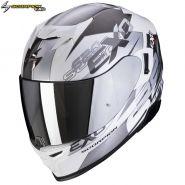Шлем Scorpion EXO-520 Air Cover, Бело-серебряный