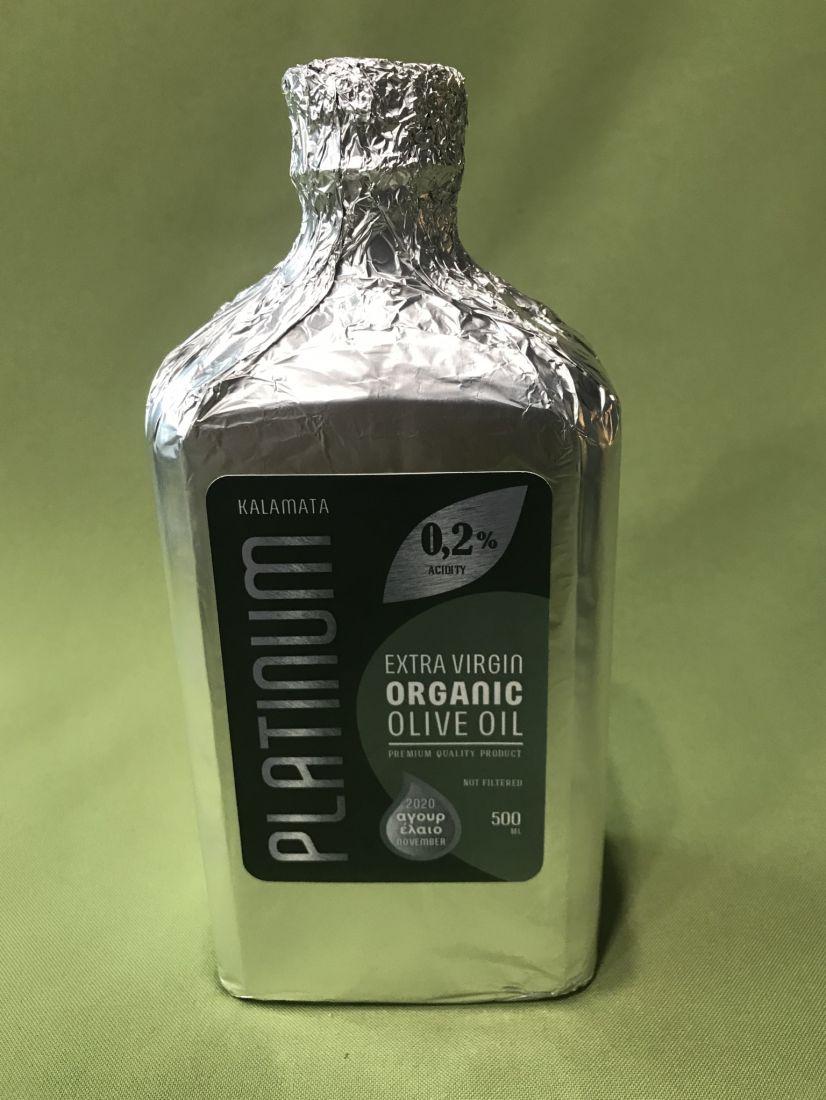 Platinum Kalamata оливковое масло нефильтрованное 500 мл