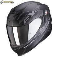 Шлем Scorpion EXO-520 Air Cover, Черный матовый с серебряным