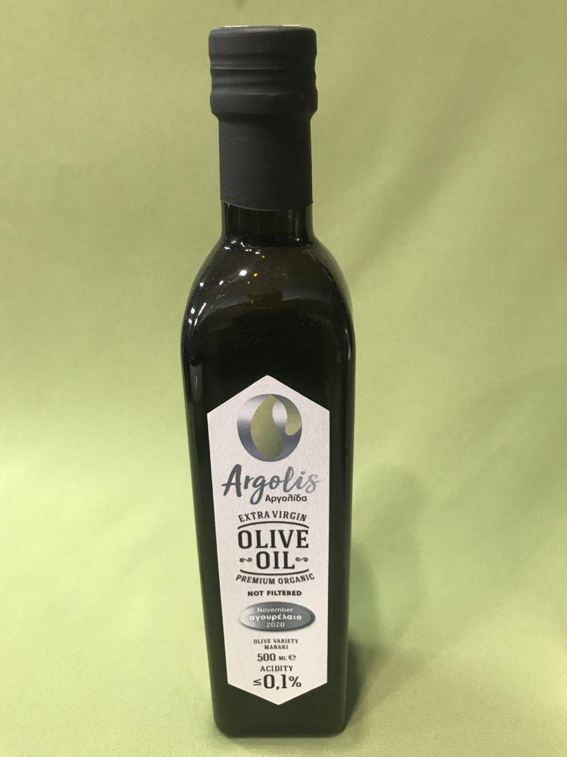 Argolis оливковое масло нефильтрованное 0.1 кислотность 500 мл