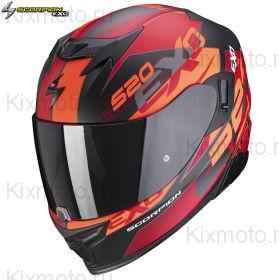 Шлем Scorpion EXO-520 Air Cover, Черный матовый с красным