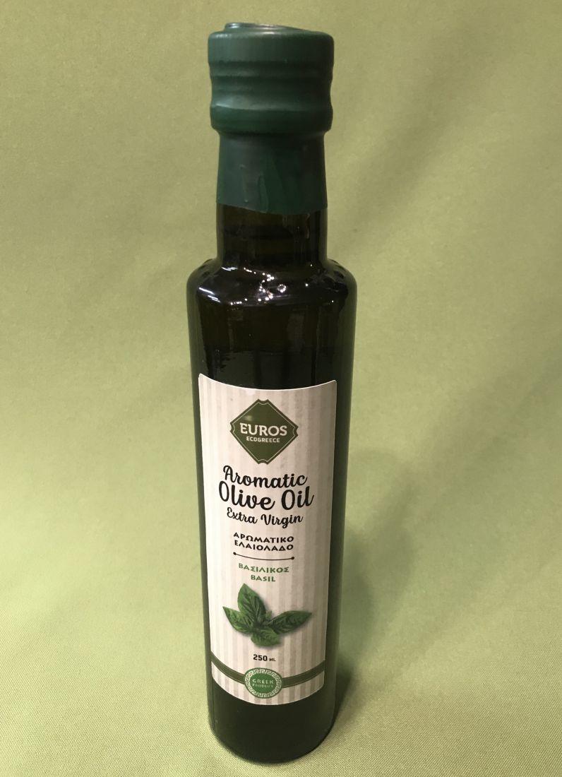 Оливковое масло с базиликом - 250 мл экстра вирджин PDO стекло