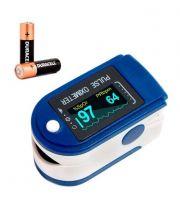 Измеритель пульса Medical QC ( Original )/ медицинский / инструкция на русском / С батарейкам / измерение кислорода и пульса. Оксиметр