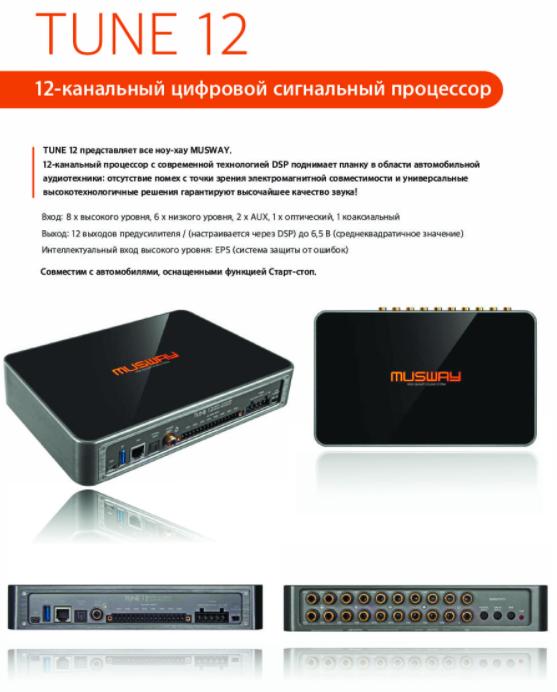 Musway TUNE12 12 канальный Процессор