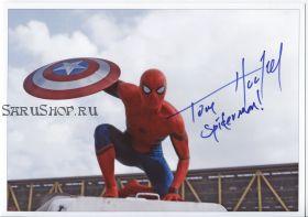Автограф: Том Холланд. Первый мститель: Противостояние