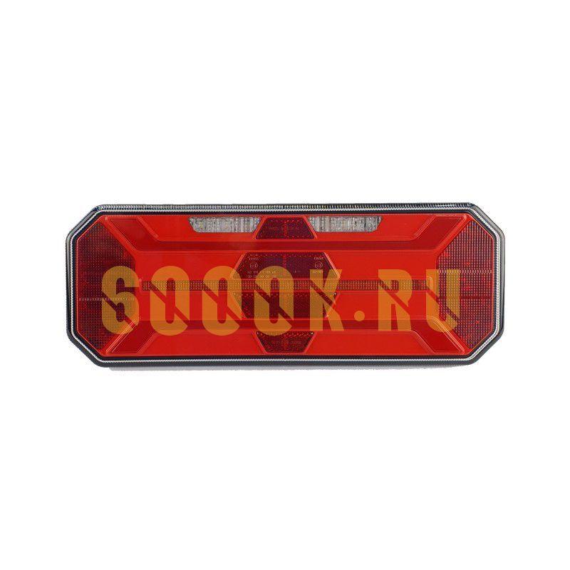 Правый светодиодный фонарь универсальный 19,2 Вт для прицепов (катафот ромб)