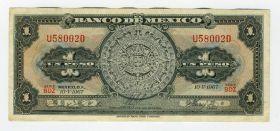 МЕКСИКА - 1 ПЕСО 1967 года, U580020