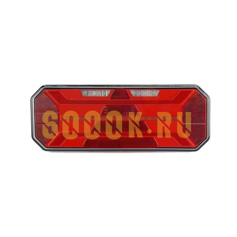 Правый светодиодный фонарь универсальный 19,2 Вт для прицепов (катафот треугольник)