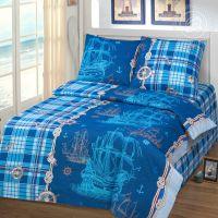«Бригантина» постельное белье бязь 1.5 спальный
