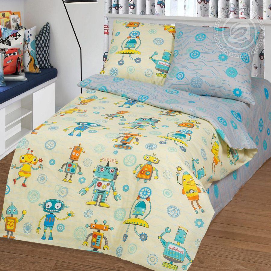 «Конструктор» постельное белье бязь 1.5 спальный